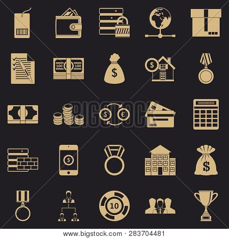 Cash Costs Icons Set. Simple Set Of 25 Cash Costs Vector Icons For Web For Any Design