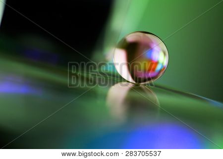Marble On The Green And Blue Background