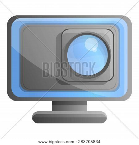 Action Underwater Camera Icon. Cartoon Of Action Underwater Camera Vector Icon For Web Design Isolat