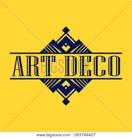 Geometric Ornamental Retro Vintage Art Deco Ornament, Logo, Badge, Border Frame For Design And Decor