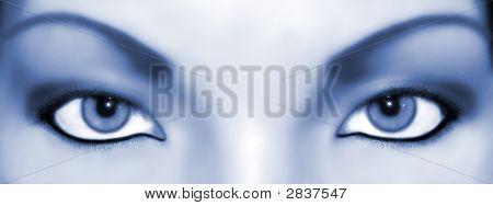 Abstract Eyes Bluish