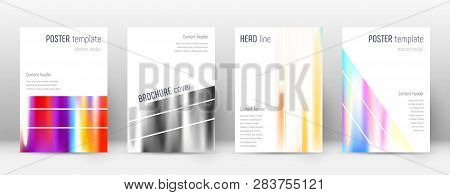 Flyer Layout. Geometric Impressive Template For Brochure, Annual Report, Magazine, Poster, Corporate
