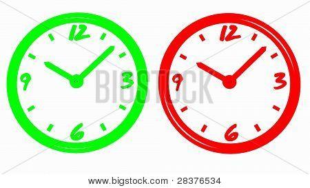 neon clocks