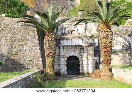 Entrance To The New Fortress On The Island Of Corfu. Greece