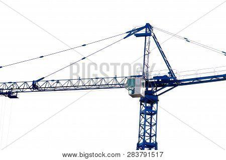Crane. Self-erection Crane  On The Construction Site.tower Crane.