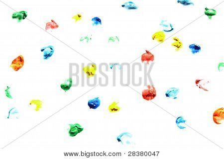 Colorful finger prints