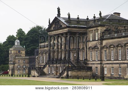 Wentworth, Uk - June 1, 2018. East Front Of Wentworth Woodhouse Stately Home, Originally A Jacobean