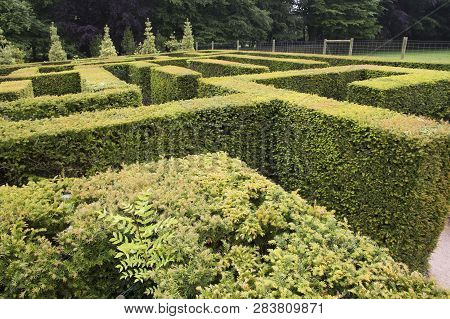 Wentworth, Uk - June 1, 2018. Maze Set Within The Grounds Of Wentworth Woodhouse. Rotherham, South Y
