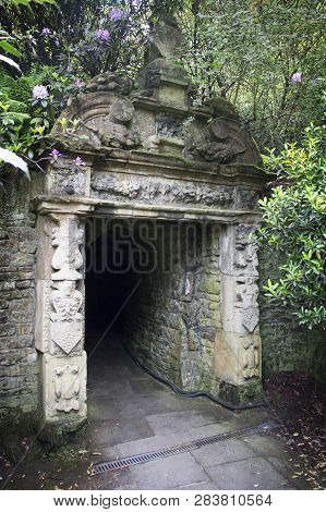 Wentworth, Uk - June 1, 2018. Archway At Walled Gardens Set Within The Grounds Of Wentworth Woodhous