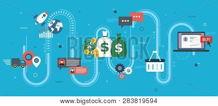 Global Economy, Business Chart And Trade Success. Money And Success In Startup. Finance, Business, S