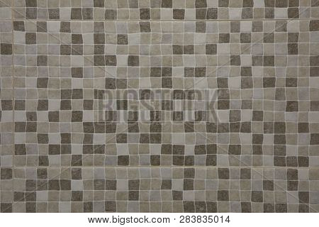 Abstract Brown Square Mosaic Background Or Texture