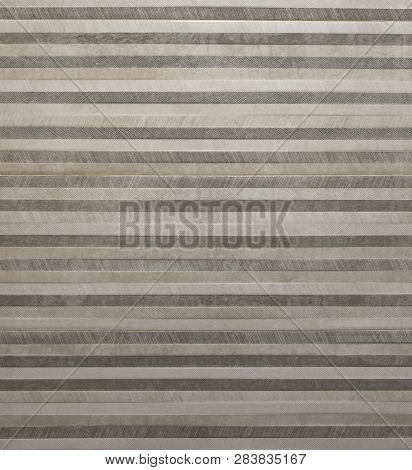 Abstract Metal Background With Brown And Yellow Horizontal Lines