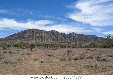 Heysen Range Situated In The Flinders Ranges, South Australia Near Aroona Homestead. Peaks Include: