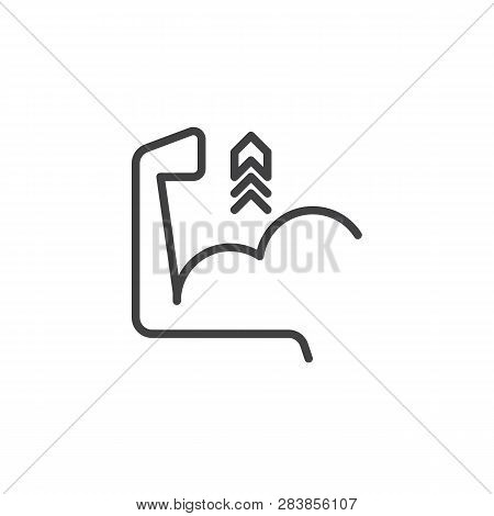 Biceps Flex Arm Line Icon. Linear Style Sign For Mobile Concept And Web Design. Biceps Muscle Hand W