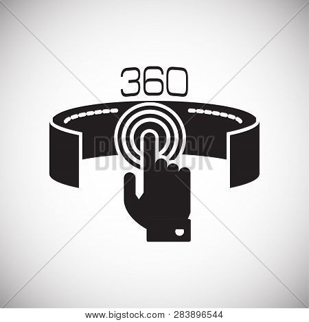 Virtual Reality 360 Icon On White Background For Graphic And Web Design, Modern Simple Vector Sign.