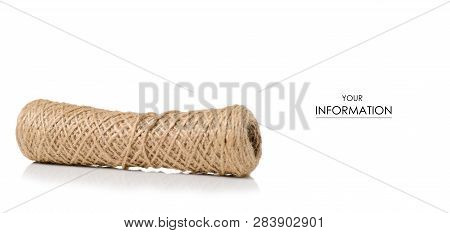 Hank rope pattern on a white background isolation poster