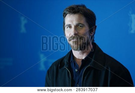 Christian Bale poses at the 'Vice' (Vice - Der zweite Mann) photocall during the 69th Berlinale International Film Festival Berlin at Grand Hyatt Hotel on February 11, 2019 in Berlin, Germany