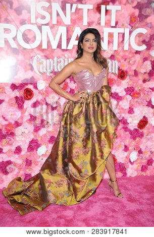 Priyanka Chopra at the Los Angeles premiere of 'Isn't It Romantic' held at the Ace Hotel Theatre in Los Angeles, USA on February 11, 2019.