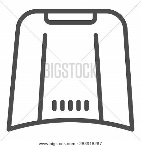 Car Hood Line Icon. Automobile Bonnet Vector Illustration Isolated On White. Car Part Outline Style