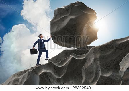 Concept of businessman with high determination