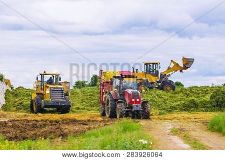 Agricultural Machinery For Harvesting Silage. Silage Feed
