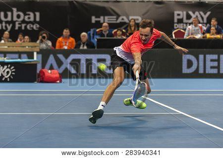 Sofia - February 09.2019: Daniil Medvedev(rus) Participate At The Atp Sofia Open Tournament In Sofia