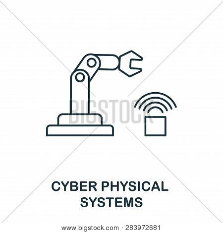 Cyber Physical Systems Icon. Thin Line Style Industry 4.0 Icons Collection. Ui And Ux. Pixel Perfect