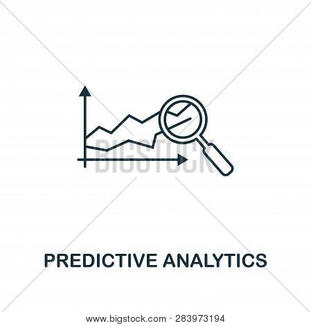 Predictive Analytics Icon. Thin Line Style Industry 4.0 Icons Collection. Ui And Ux. Pixel Perfect P