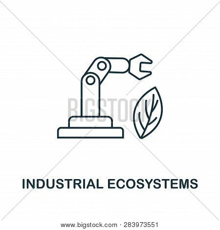 Industrial Ecosystems Icon. Thin Line Style Industry 4.0 Icons Collection. Ui And Ux. Pixel Perfect