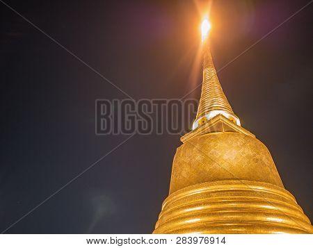 Chedi Phukhao Thong or Golden mount at wat saket temple in bangkok city Thailand.Bangkok city Travel landmark. poster
