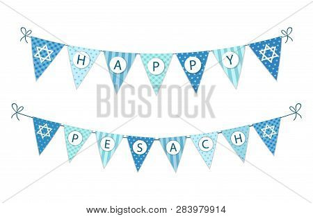 Cute Festive Bunting Flags For Pesach Jewish Holiday Passover