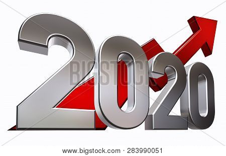 3d Rendering Of An 2020 Symbol Against White