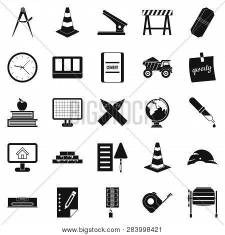 Range Icons Set. Simple Set Of 25 Range Icons For Web Isolated On White Background