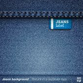 Jeans background. Vector poster