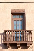 Traditional Southwestern styled house in Santa Fe historic downtown, New Mexico, USA poster