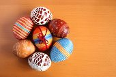 Easter Eggs In A Circle