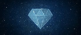 Illustration Of Diamond Shape In Sky Space Background