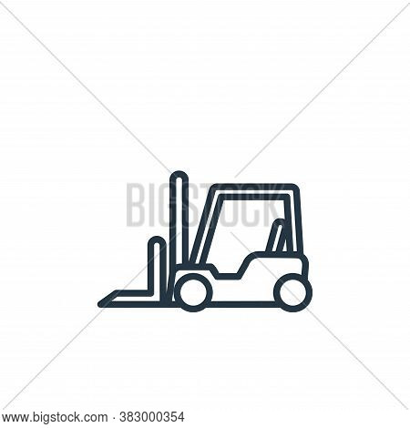 forklift icon isolated on white background from vehicles collection. forklift icon trendy and modern