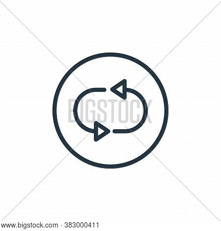 repetition icon isolated on white background from media players collection. repetition icon trendy a