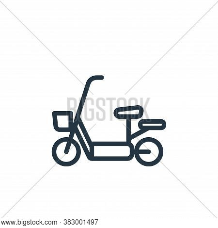 electric bike icon isolated on white background from vehicles collection. electric bike icon trendy