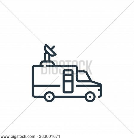 reporter icon isolated on white background from vehicles transportation collection. reporter icon tr