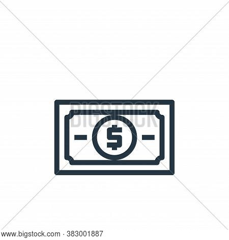 banknote icon isolated on white background from business money and communication collection. banknot