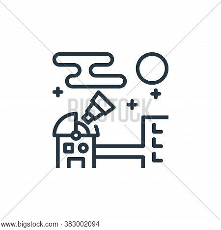observatory icon isolated on white background from space collection. observatory icon trendy and mod