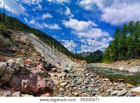 Rock Slides Near The River