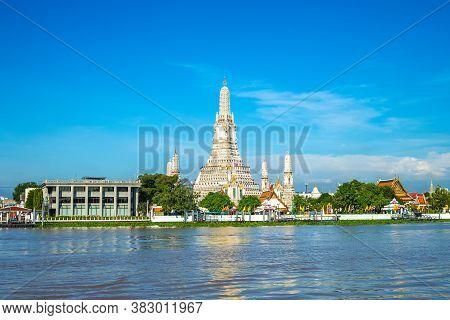 Wat Arun By Chao Phraya River At Bangkok, Thailand