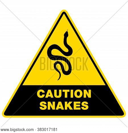 Sign Silhouette Snake. Isolated Symbol Or Icon Snake.