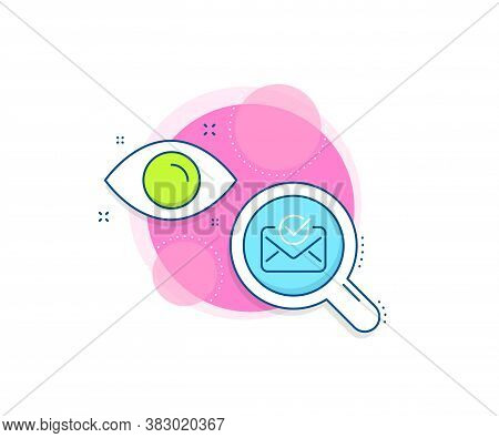 Accepted Or Confirmed Sign. Research Complex Icon. Approved Mail Line Icon. Document Symbol. Analyti