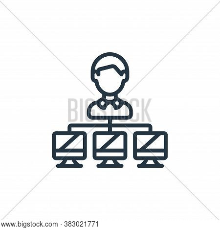 client server icon isolated on white background from cloud computing collection. client server icon