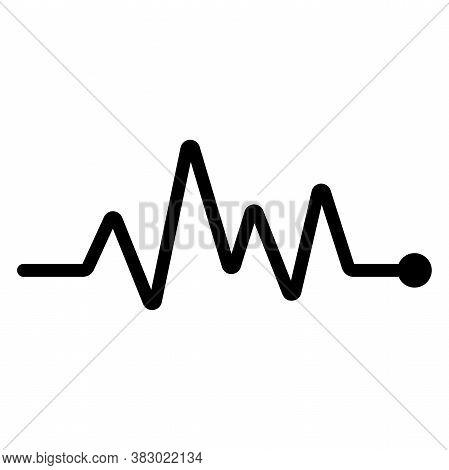 Heartbeat Pulse Vector Icon. Vector Pulse On White Background. Heart Beat, Cardiogram. Vector Illust