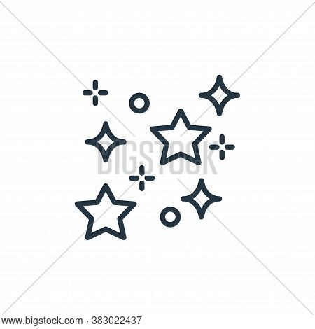 shining icon isolated on white background from space collection. shining icon trendy and modern shin